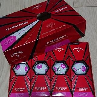 キャロウェイ(Callaway)のキャロウェイ ゴルフボール クロムソフト 白×ピンク 1ダース 新品未使用(その他)