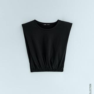 ZARA - ZARAショルダーパッドTシャツ