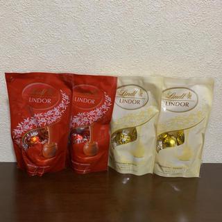 リンツ(Lindt)のリンツ⭐️リンドール⭐️チョコレート⭐️ミルク⭐️ホワイト(菓子/デザート)