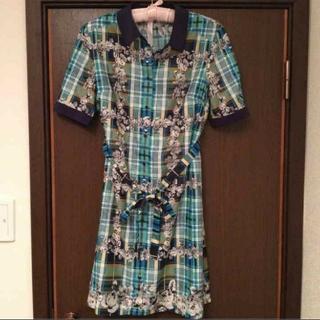 ドーリーガールバイアナスイ(DOLLY GIRL BY ANNA SUI)のドーリーガール☆ロングチェックシャツ(シャツ/ブラウス(半袖/袖なし))