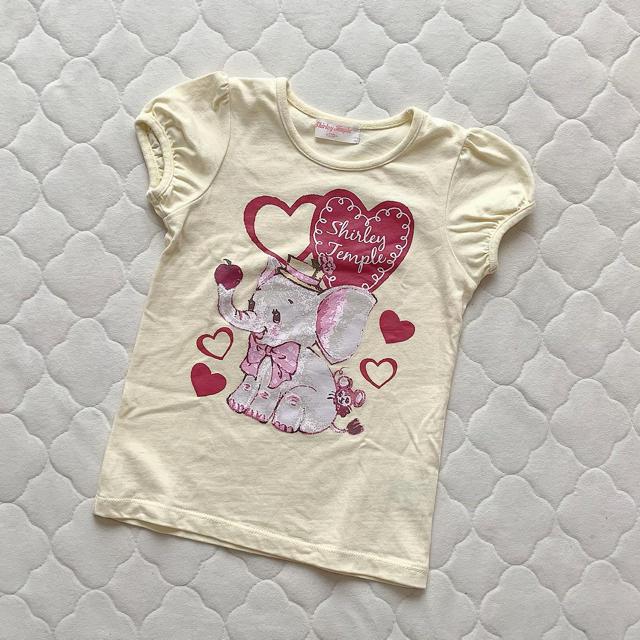 Shirley Temple(シャーリーテンプル)のシャーリーテンプル🎀カットソー 110 キッズ/ベビー/マタニティのキッズ服女の子用(90cm~)(Tシャツ/カットソー)の商品写真
