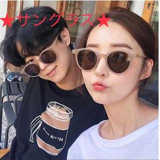 サングラス レディース ホワイト 韓国ファッション オルチャン  大人気(サングラス/メガネ)