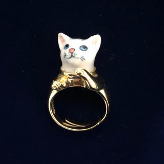 アッシュペーフランス(H.P.FRANCE)のnach 猫リング(リング(指輪))