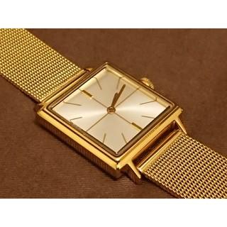 アッシュペーフランス(H.P.FRANCE)のinduna インデュナ 腕時計 ゴールド スクエア アッシュペーフランス(腕時計)