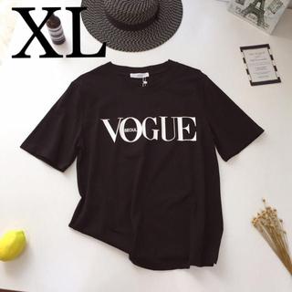 ZARA - Tシャツ ブラック XL VOGUE コットン ファッション カジュアル 半袖