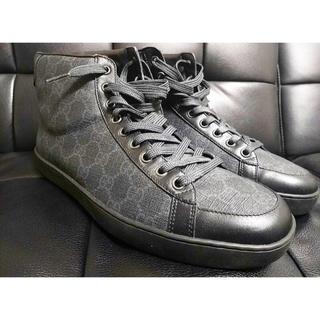 グッチ(Gucci)のGUCCI グッチ GG ハイカット 黒 スニーカー 靴 正規品 ヴィトン (スニーカー)