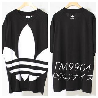 adidas - アディダス ビッグトレファイルTシャツ FM9904 ブラック O(XL)サイズ