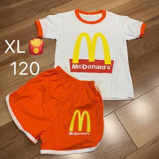 XL120サイズマクドナルド柄Tシャツセットアップ海外子供服男の子女の子