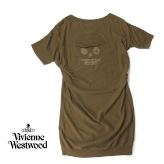 Vivienne Westwood - ヴィヴィアンウエストウッド スカル×オーブ刺繍◎サマーニットワンピース