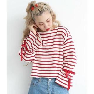 ドットアンドストライプスチャイルドウーマン(Dot&Stripes CHILDWOMAN)のDot&Stripes CHILD WOMAN のボーダー柄カットソー(カットソー(長袖/七分))