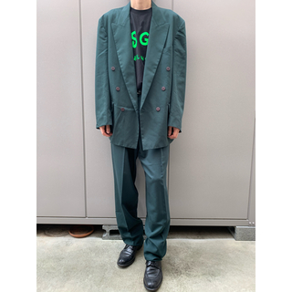 JOHN LAWRENCE SULLIVAN - 80s vintage double suits グリーン 古着 菅田将暉
