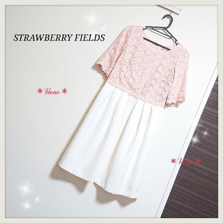 STRAWBERRY-FIELDS - STRAWBERRY FIELDS*レースドッキングワンピース