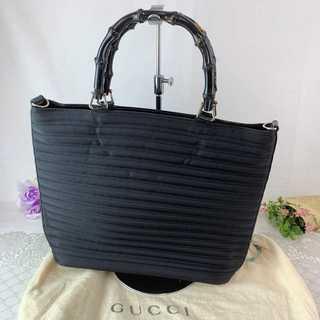 Gucci - ❤特価セール❤ 【グッチ】 バッグ トートバッグ 黒 2way バンブーハンドル