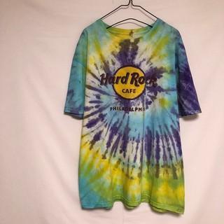 ハードロックカフェ Tシャツ タイダイ マルチカラー フィラデルフィア(Tシャツ/カットソー(半袖/袖なし))