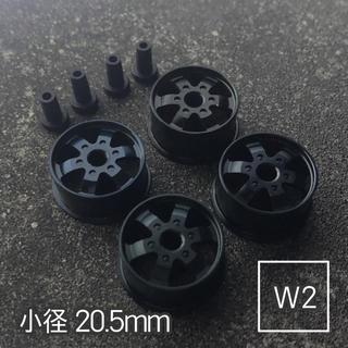 ミニ四駆 アルミホイール 4個セット(小径ディッシュ)ブラック(模型/プラモデル)