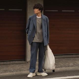 SUNSEA - YOKE 20ss セットアップ【サイズS/ネイビー色】