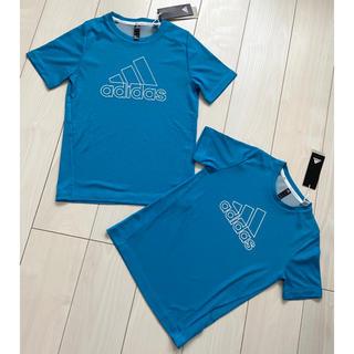 adidas - 新品 adidas ジュニア Tシャツ ブルー 青 2枚セット お揃い キッズ