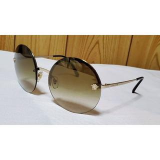 ヴェルサーチ(VERSACE)の正規レア ヴェルサーチ クラシック メデューサロゴ ラウンドサングラス茶 眼鏡〇(サングラス/メガネ)
