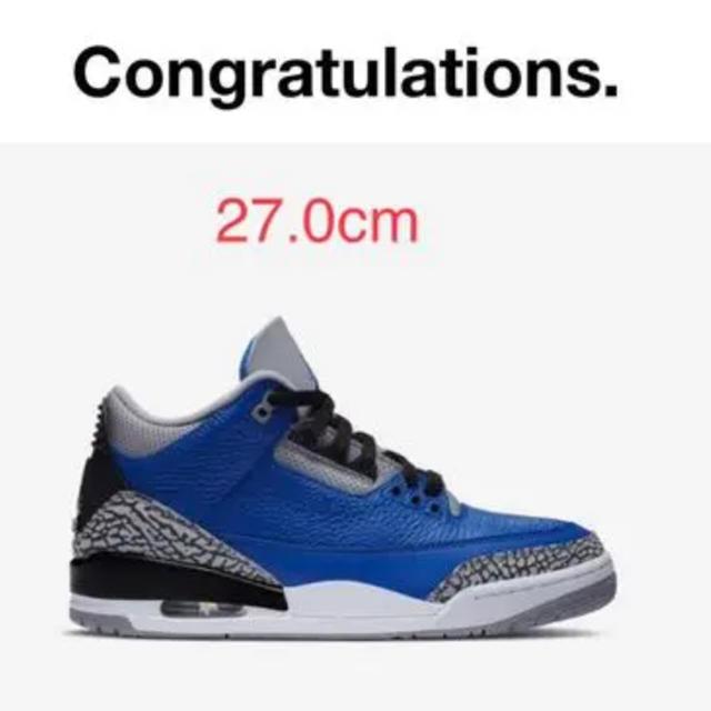 NIKE(ナイキ)のNIKE Air Jordan 3 blue cement メンズの靴/シューズ(スニーカー)の商品写真