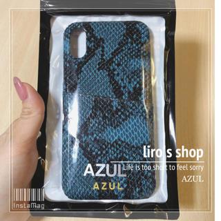 アズールバイマウジー(AZUL by moussy)のAZUL by moussy♡パイソンフォンケース(iPhoneケース)