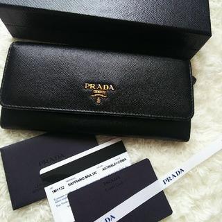 PRADA - 【美品】PRADA プラダ 2つ折り長財布