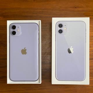 iPhone - iPhone11 パープル 128GB SIMフリー 備品あり