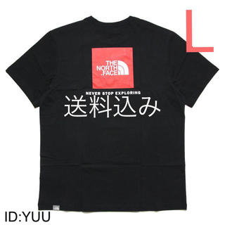 THE NORTH FACE - 【L】THE NORTH FACE ノース RED BOX TEE Tシャツ 黒