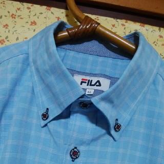 フィラ(FILA)のメンズ大きいサイズFILAブロックチェックシャツ新品(シャツ)