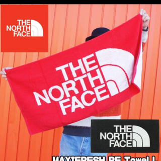 THE NORTH FACE - 【箱なし新品】ノースフェイス タオル 赤色 高機能 肉厚 抗菌消臭 綿100%