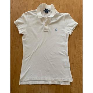 POLO RALPH LAUREN - ラルフローレン 白ポロシャツ スキニーフィットMサイズ