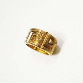 ヴェルサーチ(VERSACE)のVERSACE ヴェルサーチ グレカ リング ゴールド 指輪 19号(リング(指輪))