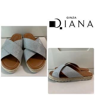 DIANA - ダイアナ シルバーグリッター サンダル