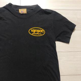 バンソン(VANSON)のUSA製 VANSON 半袖 Tシャツ ブラック Sサイズ バンソン 90s(Tシャツ/カットソー(半袖/袖なし))