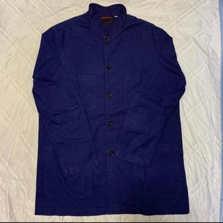 コモリ(COMOLI)のVETRA スタンドカラージャケット Blue(カバーオール)