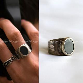 マルタンマルジェラ(Maison Martin Margiela)のメゾン マルジェラ ヴィンテージ オーバル リング シルバー 指輪(リング(指輪))