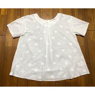 45rpm - Pal'las Palace パラスパレス 水玉刺繍ブラウス ホワイト