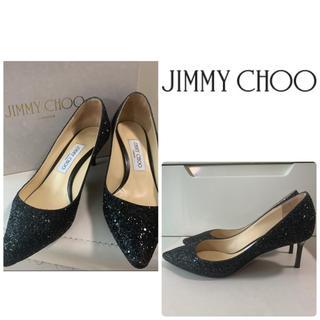 JIMMY CHOO - ジミーチュウ ブラックスパンコール パンプス