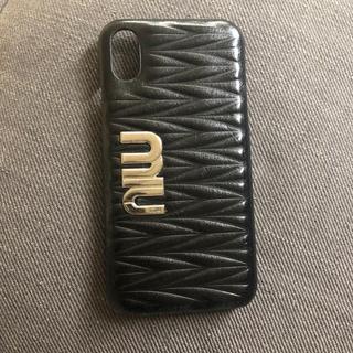 MIU ♡iPhoneX iPhoneケース(iPhoneケース)