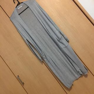ショコラフィネローブ(chocol raffine robe)のグレーロングカーディガン(カーディガン)
