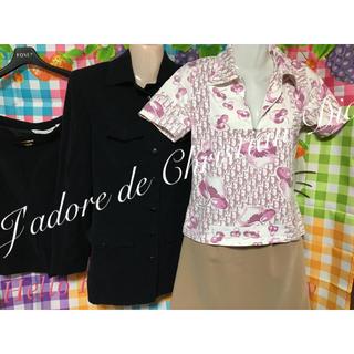 クリスチャンディオール(Christian Dior)のクリスチャンディオール パンツ スーツ 半袖トロッター フォクシー ミニスカート(スーツ)