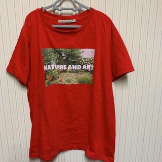 ルカ(LUCA)のお値下げ LUCA レディラックルカ 転写プリント 半袖 Tシャツ(Tシャツ(半袖/袖なし))