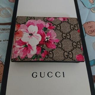 グッチ(Gucci)のGUCCI グッチ ブルームス 本物 名刺入れ カードケース フラワー(名刺入れ/定期入れ)