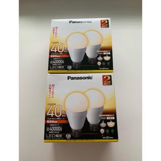 パナソニック(Panasonic)のパナソニック LED電球 電球40形相当 電球色相当 E26口金  2箱(蛍光灯/電球)