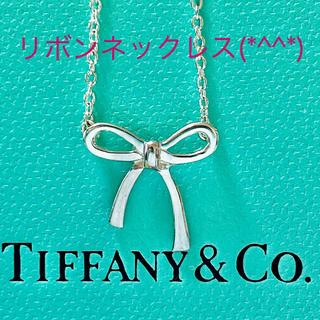 Tiffany & Co. - ティファニーリボンネックレス 美品です(*^^*)