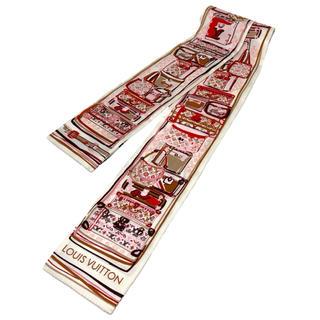 ルイヴィトン(LOUIS VUITTON)のLOUIS VUITTON☆バンドー スカーフ モノグラム LVロゴ ピンク(バンダナ/スカーフ)