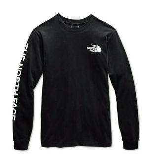 新品☆ノースフェイス 袖ロゴ ロンT Tシャツ USメンズL/日本XL相当