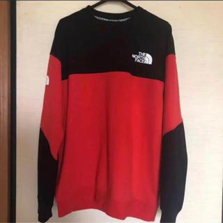 ザノースフェイス(THE NORTH FACE)のTHE NORTH FACE メンズノースフェイス トップス Red トレーナー(Tシャツ/カットソー(七分/長袖))