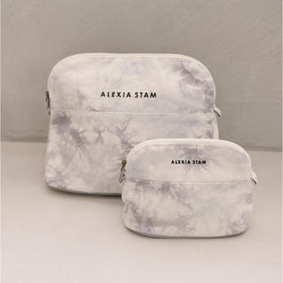 ALEXIA STAM - アリシアスタン Tie Dye Small Pouch Ice Gray