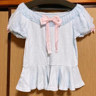 アンジェリックプリティー(Angelic Pretty)のサックスカットソー(カットソー(半袖/袖なし))