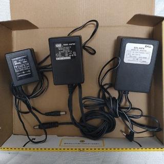 ACアダプター3個セット 7.5V 15V 3.6V (バッテリー/充電器)